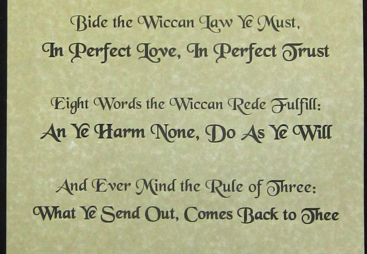 Breaking Down the Wiccan Rede