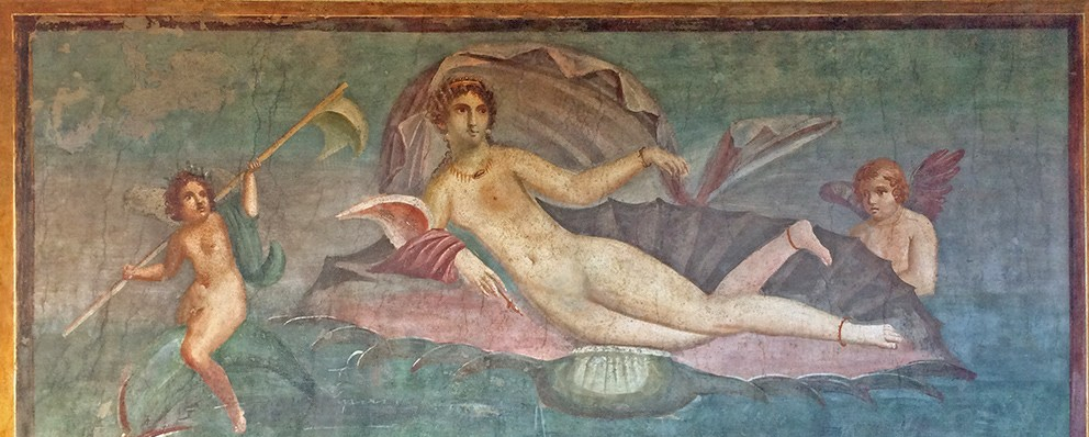 wall-painting-in-the-house-of-venus-in-the-shell-in-pompeii-italy